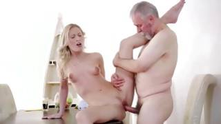 Remarkable gf is riding sexy on mature penis